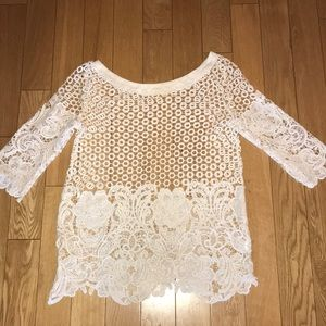WHITE LACE COVER UP 💕